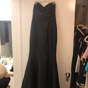 David's bridal bridesmaid gown, black, size 8